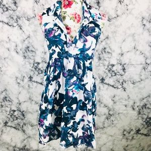 ASOS 6 blue and white floral dress